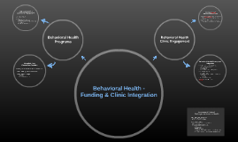 Behavioral Health - Funding and Clinic Integration
