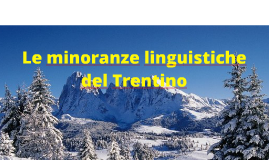Le minoranze linguistiche
