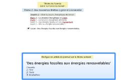 Leçon - Des énergies fossiles aux énergies renouvelables