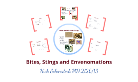 Bites, Stings and Envenomations
