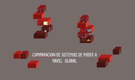 COMPARACION DE SISTEMAS DE PODER A NIVEL  GLOBAL