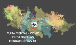MAPA MENTAL - COMO ORGANIZO LAS HERRAMIENTAS TIC