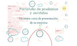 Portafolio de servicios y productos
