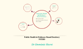Public Health & Evidence-Based Dentistry: Year 1 Induction Presentation