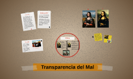 Transparencia del Mal