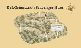 D2l Orientation Scavenger Hunt