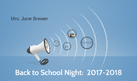 Back to School Night: 2017-2018