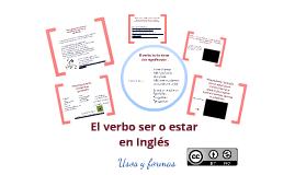Verbo ser/estar en Inglés (to be verb in English)