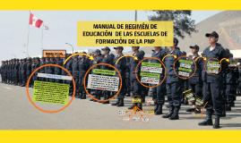 Copy of MANUAL DE REGIMEN DE EDUCACIÓN DE LAS ESCUELAS DE FORMACIÓN