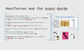 Manifestos and the Avant-Garde