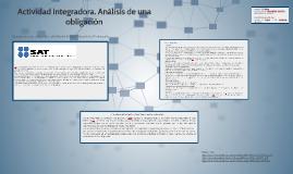 Actividad integradora. Analisis de una obligacion