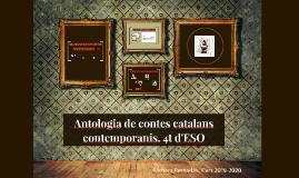 Antologia de contes catalans contemporanis. 4t d'ESO