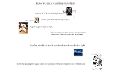how to be a vampire hunter