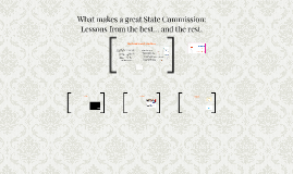 What Makes a Great State Commission