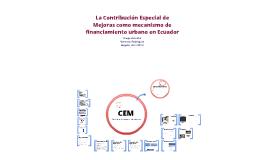 La Contribución Especial de Mejoras como mecanismo de financiamiento urbano en Ecuador