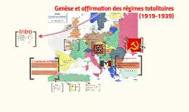 Copy of Genèse et affirmation des totalitarismes