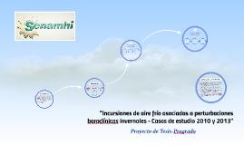 Incursiones de aire frío asociadas a perturbaciones baroclín
