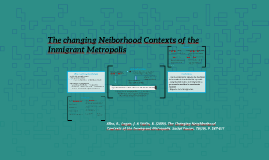 The changing Neiborhood Contexts of the Inmigrant Metropolis