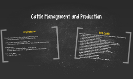 Cattle Management and Production