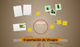 Asesoria sobre Exportacion: Vinagre Romano