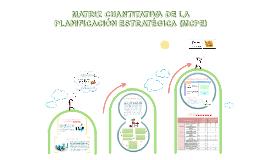 Copy of MATRIZ CUANTITATIVA DE LA PLANIFICACIÓN estratégica (MCPE):