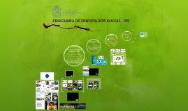 PROGRAMA DE INNOVACIÓN SOCIAL - UN