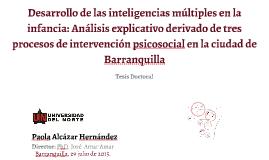 Presentación PHD. Paola Alcazar