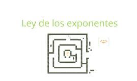 Ley de los exponentes/Jerarquía de operadores