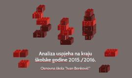 Analiza uspjeha na kraju školske godine 2015./2016.