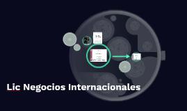 Lic Negocios Internacionales