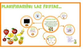 Copy of planificación: las frutas...