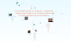From small screen to viral art:  Exploring fandom participants as lifelong learners in informal learning environments