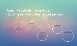 Topic: People drinking water