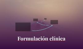 Formulación Clínica