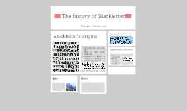 The history of Blackletter