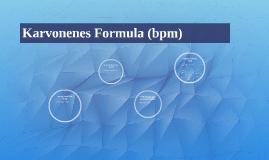 Karvonenes Formula (bpm)