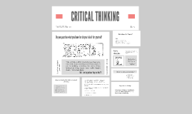 Copy of CRITICAL THINKING