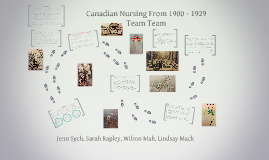 Canadian Nursing From 1900 - 1929
