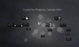 Economic Progress Canada WW1
