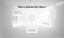 Becoming Spiritually Self-reliant