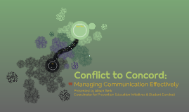 Conflict to Concord: