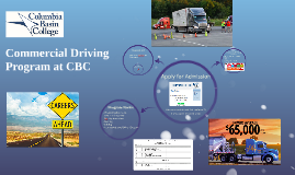 Commercial Driving Program at CBC