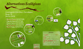 Alternativas Ecológias