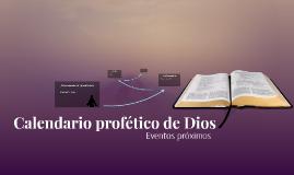 Calendario profético de Dios