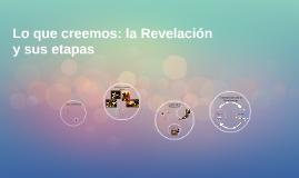 La Revelación y sus etapas