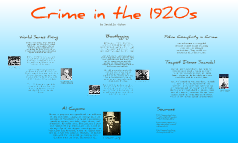 Crime in the 1920s