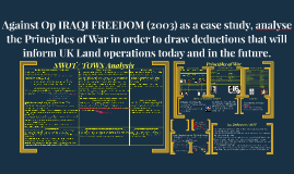 Against Op IRAQI FREEDOM (2003) as a case study, analyse the