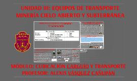 Copy of UNIDAD III: EQUIPOS DE TRANSPORTE MINERÍA CIELO ABIERTO Y SUB
