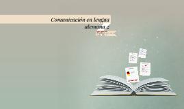 Comunicación en lengua alemana 2