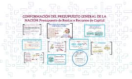 CONFORMACIÓN DEL PRESUPUESTO GENERAL DE LA NACIÓN: Presupues